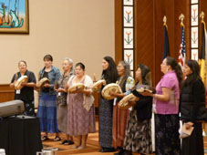 The Wabanaisee 'Snowbird' Singers performing at the 2010 Great Lakes Native American Conference in the EDMI