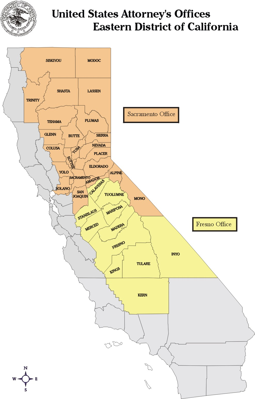 Click Here For The California County Map Of The Eastern District