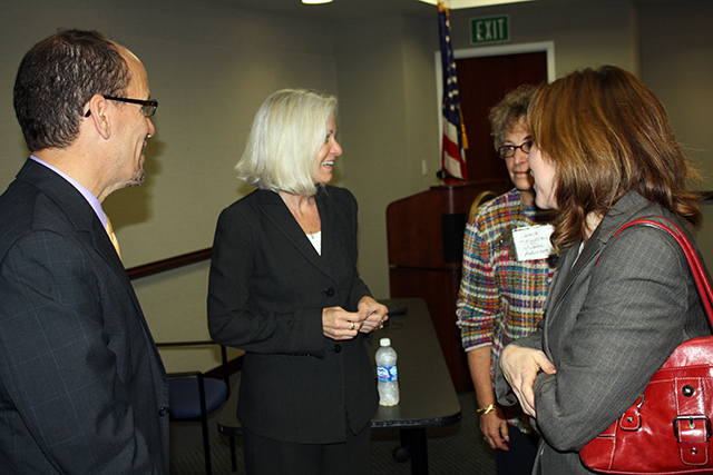 Assistant U.S. Attorney General for the Civil Rights Division Tom Perez and US Attorney Melinda Haag joined by Nancy Harris and Jamienne Studley