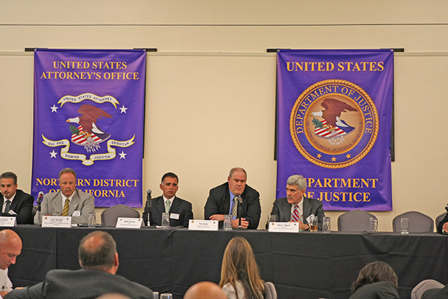 Federal, state and local law enforcement gather to discuss law enforcement measures to address gang violence in Salinas