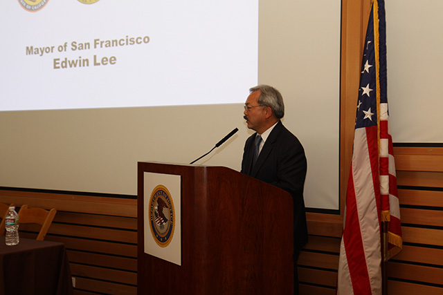 Mayor Ed Lee makes luncheon remarks