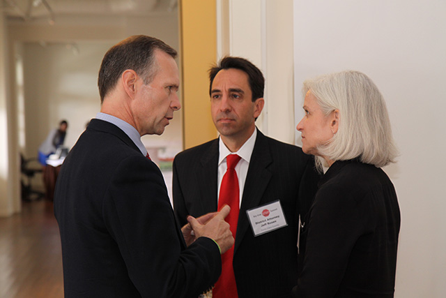 Rob Naber, Santa Clara County District Attorney Jeff Rosen with U.S. Attorney Melinda Haag