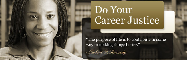 Do Your Career Justice Banner