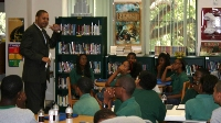 USAO LECC specialist speaks to Tampa Prep students