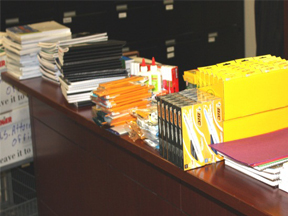 School supplies donated by U.S. Attorney's Office employees