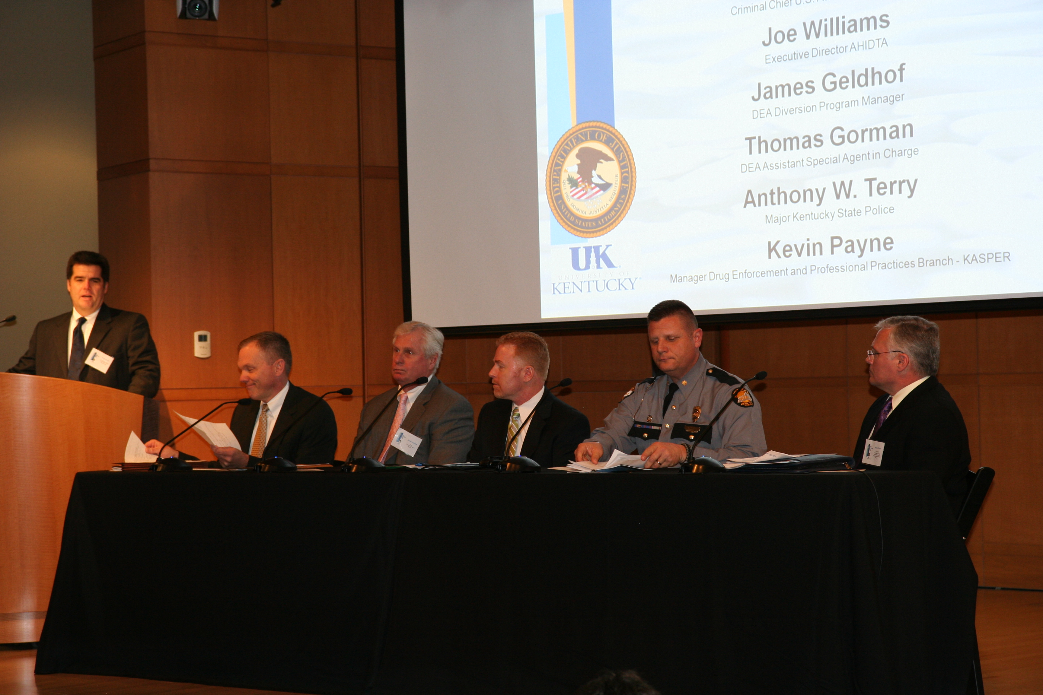 Panel discussions and presentations focused on prescription drug abuse and its impact on Kentucky communities, schools and its institutions