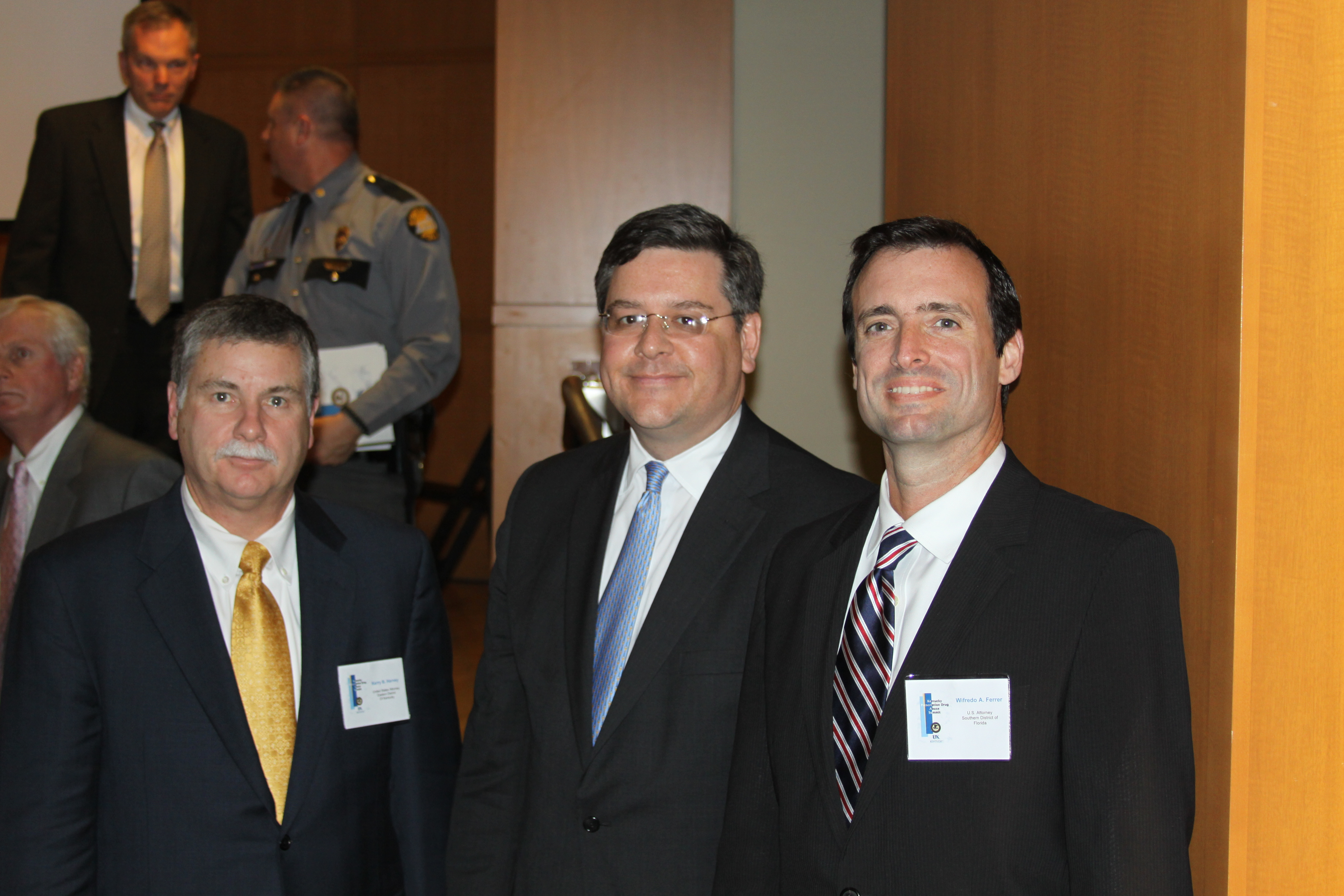U.S. Attorney Kerry B. Harvey, U.S. Attorney David J. Hale, U.S. Attorney Wifredo Ferrer, Kentucky Prescription Drug Abuse Summit, February 1, 2012, Lexington, Kentucky