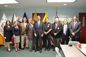 U.S. Attorney General Eric Holder meets with tribal leaders in Michigan.