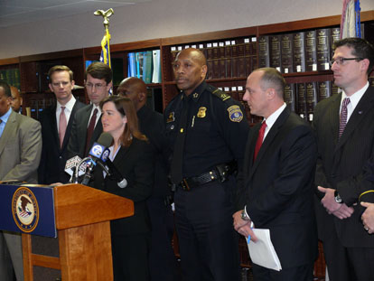 Press conference - Highland Park Police Dept.