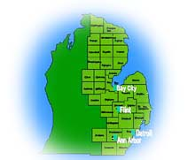Map of the Eastern District of Michigan