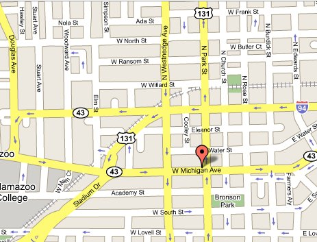 Map of Kalamazoo Office | USAO-WDMI | Department of Justice
