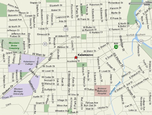 Map To Kalamazoo Michigan Federal Courthouse Usao Wdmi
