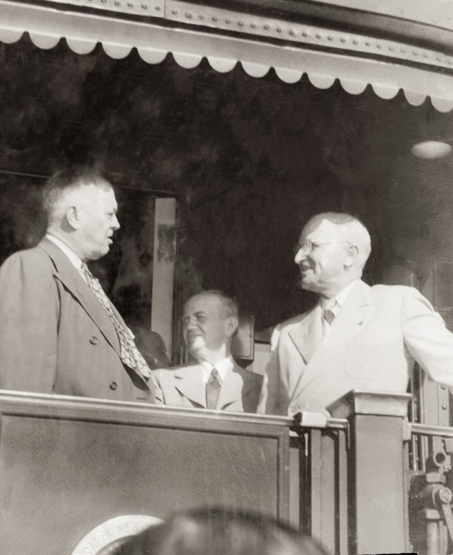 U.S. Attorney Sam M. Wear meets President Harry S. Truman