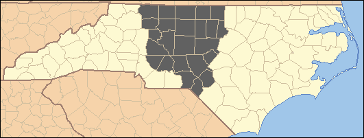 Middle Districts of North Carolina Map