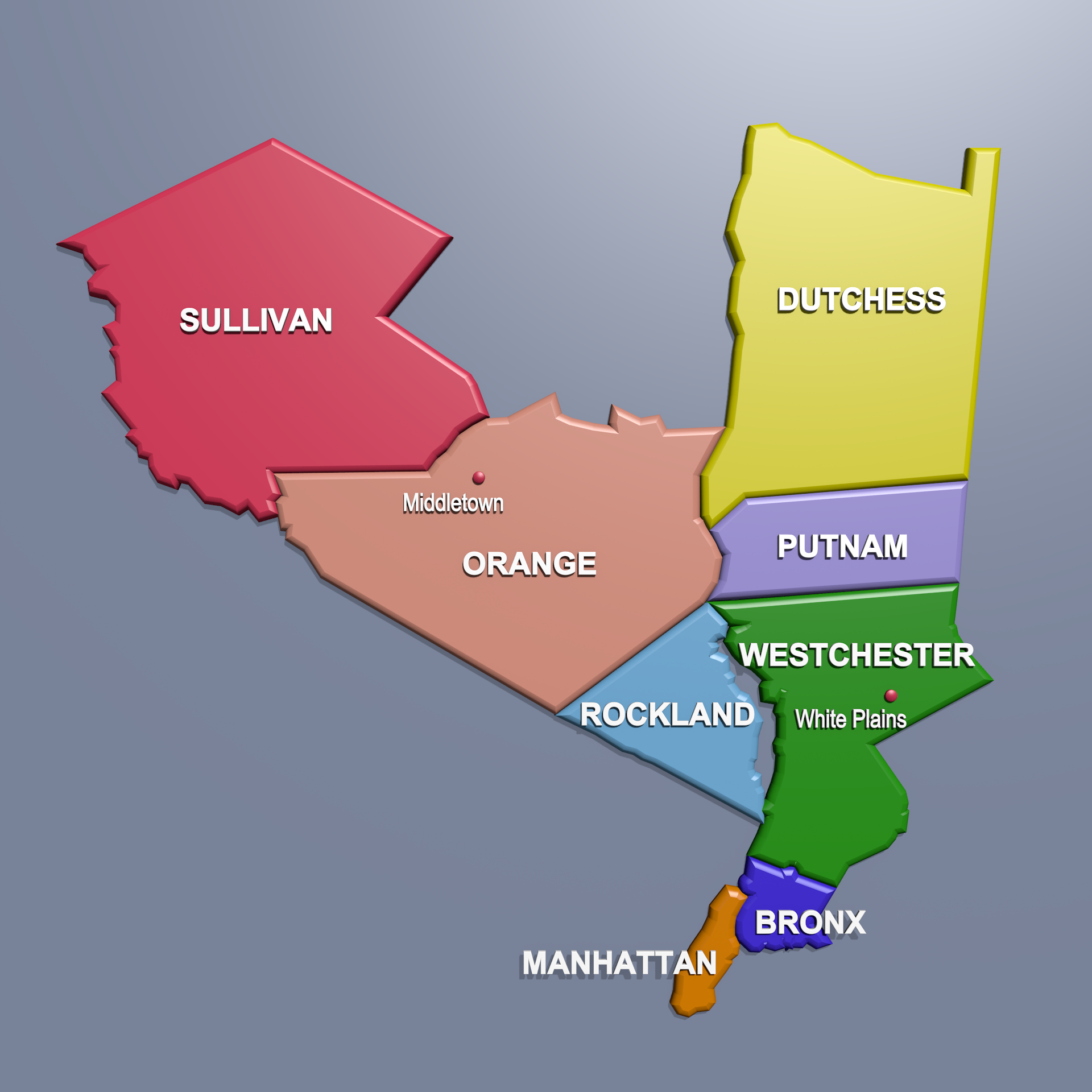 SDNY District Map