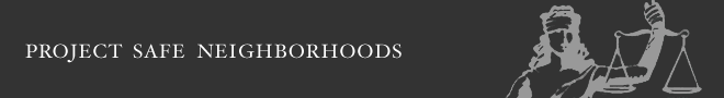 Project Safe Neighborhoods Banner Image