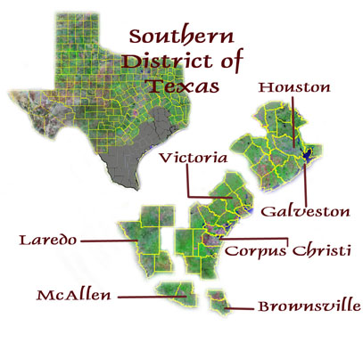 Map Of Texas Us.About Us Usao Sdtx Department Of Justice