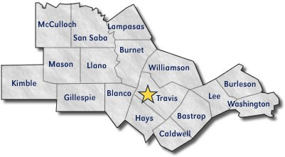 Austin Texas Counties Map | My Blog