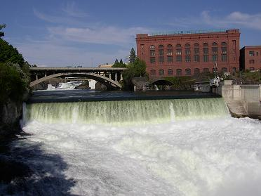 Spokane Falls on the Spokane River