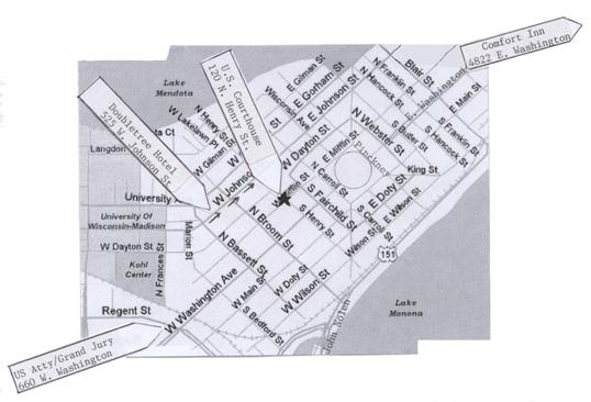Map of Downtown Madison, WI