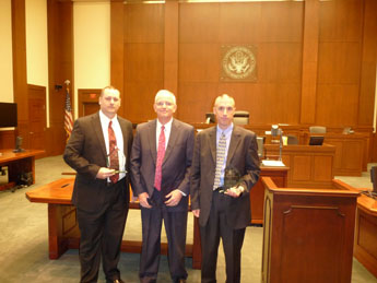 A ceremony was held on May 2, 2011, in Chief Judge Bailey's courtroom to honor the winners of the 2011 United States Attorney's Awards.