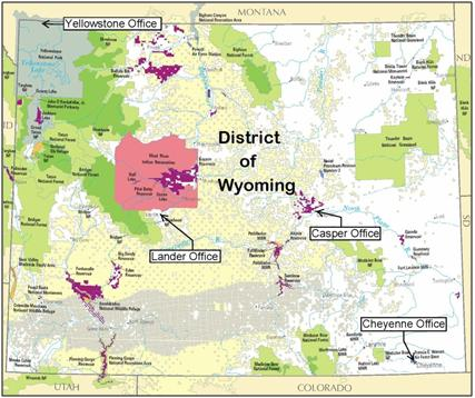 About The District USAOWY Department Of Justice - Wyoming map us
