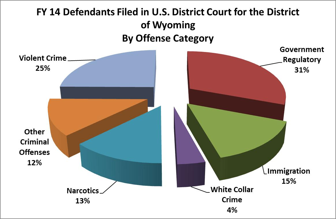 FY 2014 Defendants Filed by Offense Category