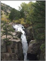 Shell Falls in the Big Horn Mountains, USAO Staff Photo