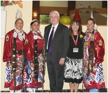 U.S. Attorney Crofts, Victim-Witness Coordinator Martinez and Native American Warrior Women, Courtesy of USAO Staff