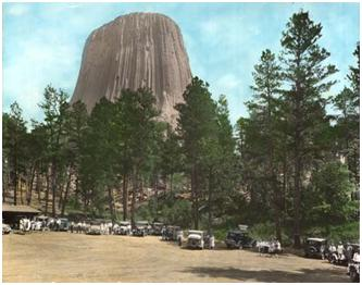 Devils Tower National Monument in 1930, Courtesy of Wyoming State Archives